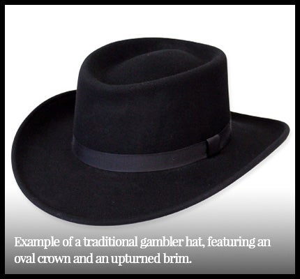 Example of classic gambler hat.