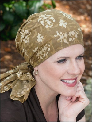 pre-tied scarves for cancer patients