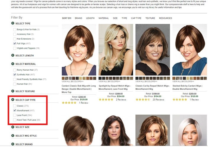 Finding the best monofilament wigs online