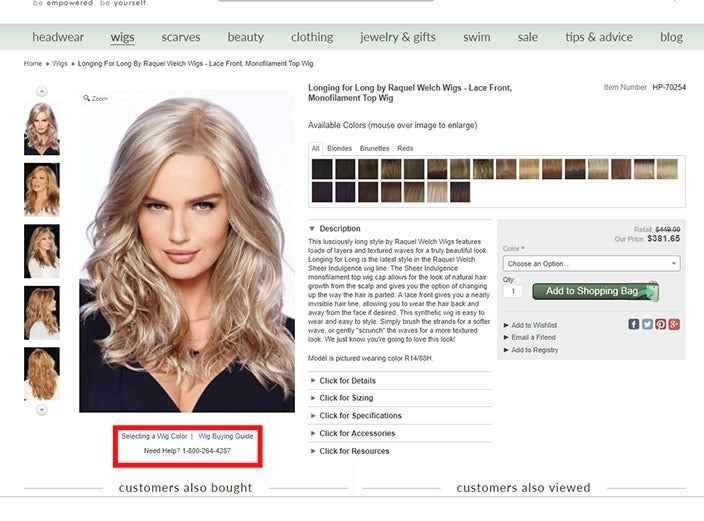 Free wigs color consultations online