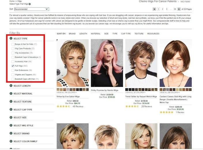 Find the best full wigs online