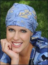 cotton scarf for cancer chemotherapy patient