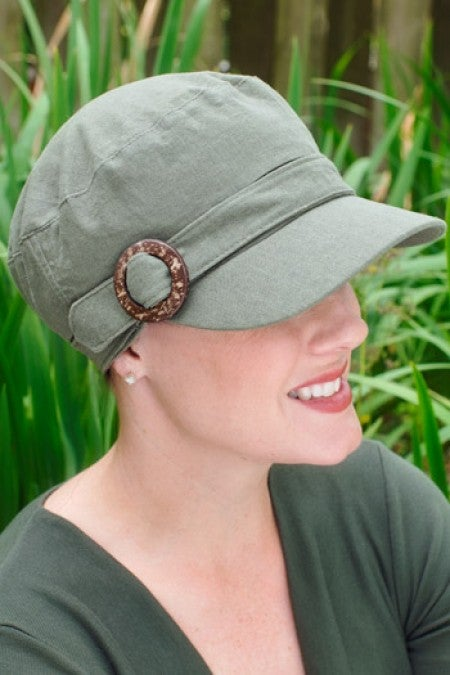 cadet or military style cap