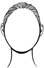 round face shape drawing