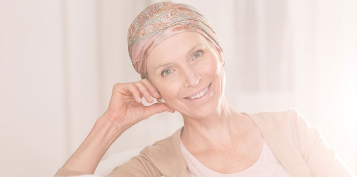 Woman going through cancer treatment