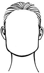 square face shape drawing