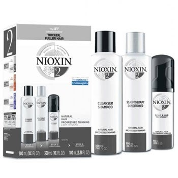 Nioxin System 2 - Hair thickening shampoo, conditioner, and treatment