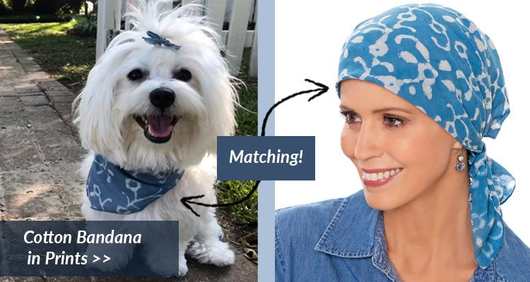 Matching Cotton Bandanas for Dogs and Cancer Patients