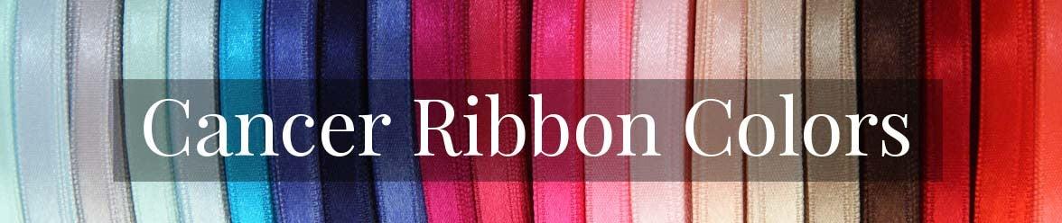 cancer ribbon colors cancer awareness ribbons