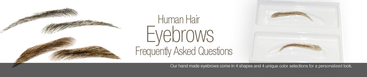 realistic human hair eyebrows for men and women - real eyebrow replacement