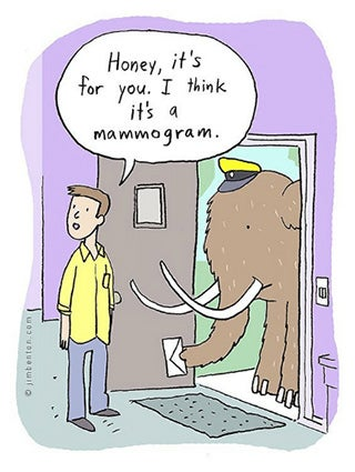 breast cancer memes: mammogram mammoth