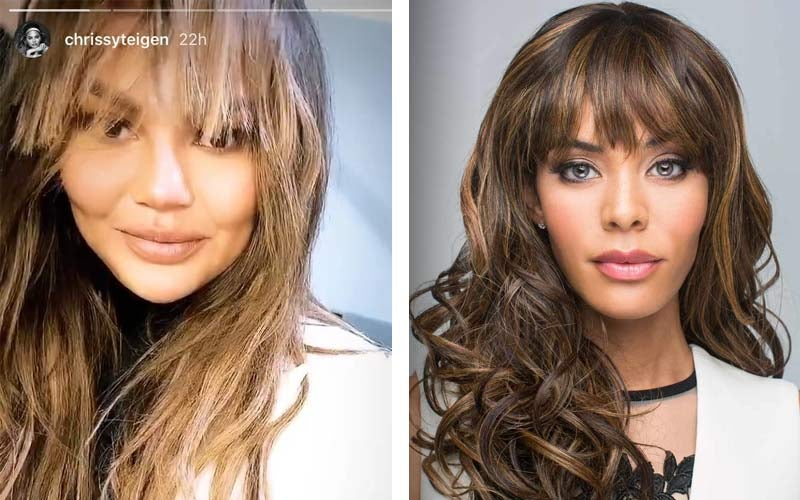 Chrissy Teigen Bangs - Seduction by Orchid Wigs