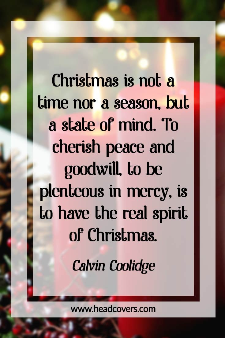 Inspirational Christmas quotes - Calvin Coolidge
