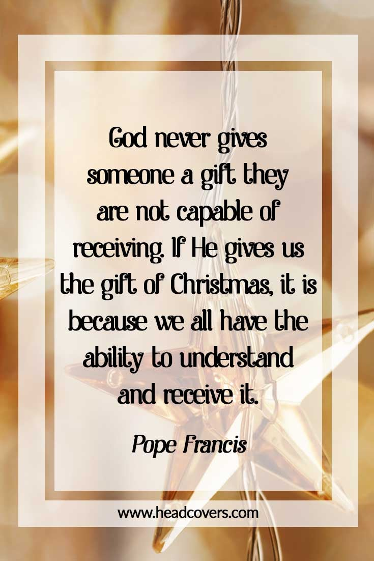 Inspirational Christmas quotes - Pope Francis