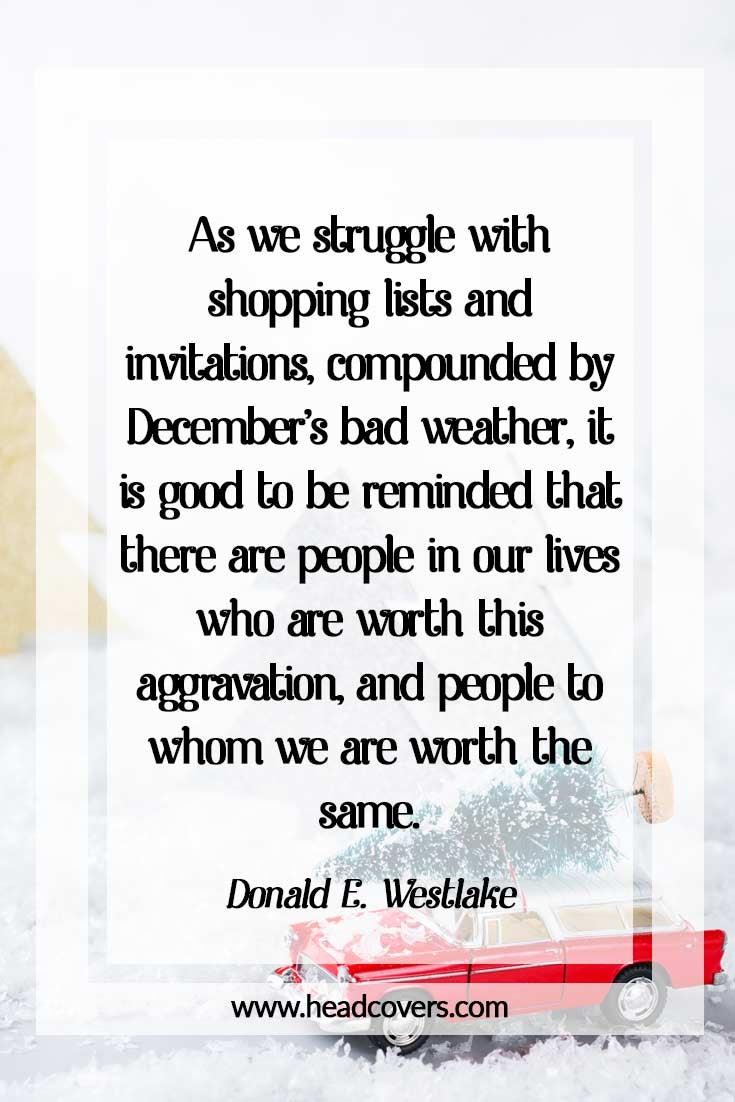 Inspirational Christmas quotes - Donald E. Westlake