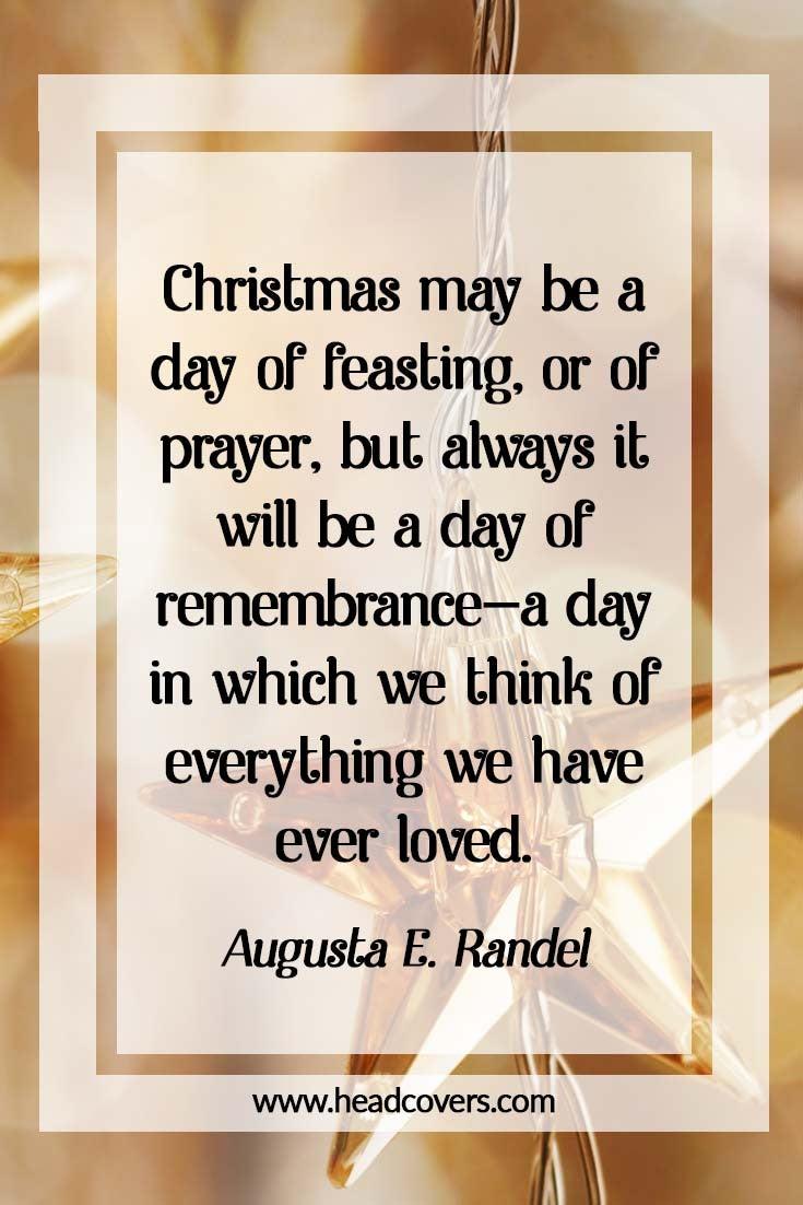 Inspirational Christmas quotes - Augusta E. Randel