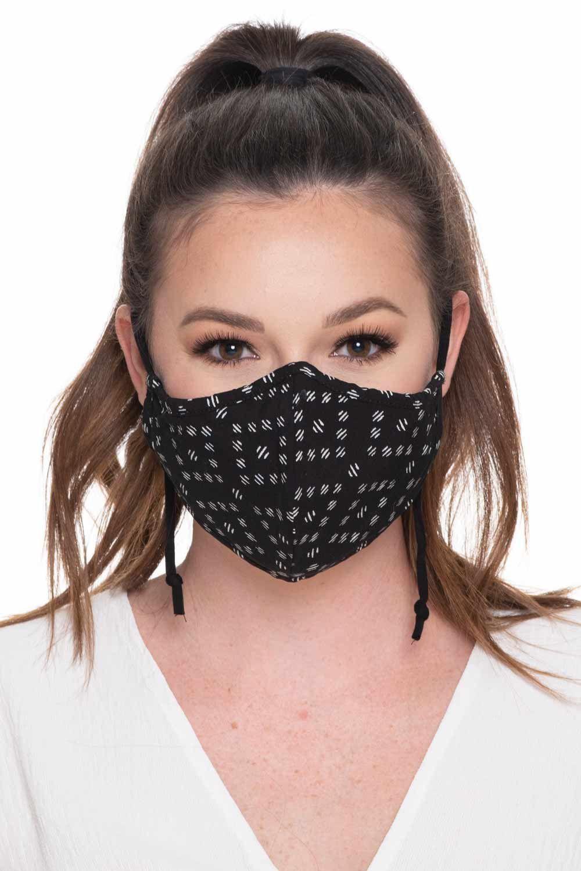 Fashion Face Mask Print - Black Diamond
