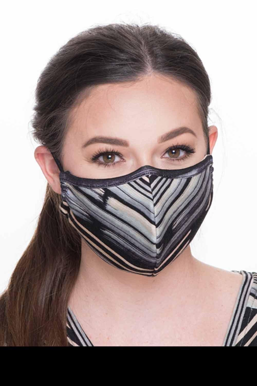 Fashion Face Mask Print - Multi Stripe