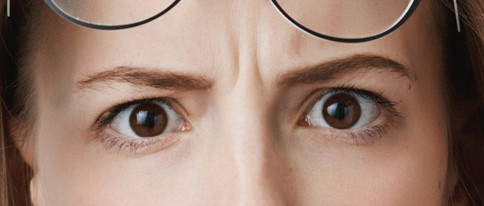 Why do we furrow our eyebrows?