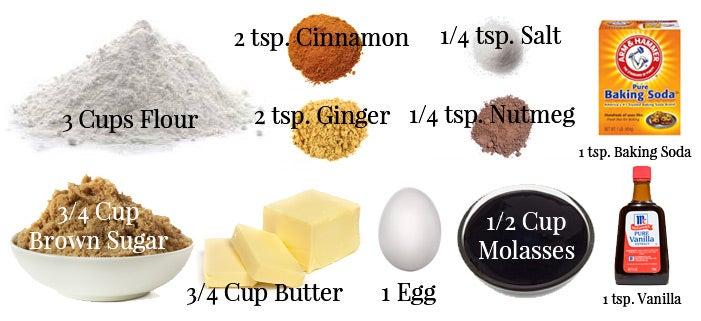Gingerbread cookie ingredients