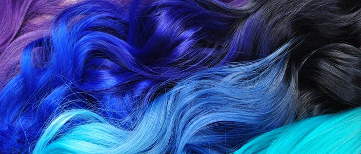 Dying your hair during chemo - Curly purple and blue hair