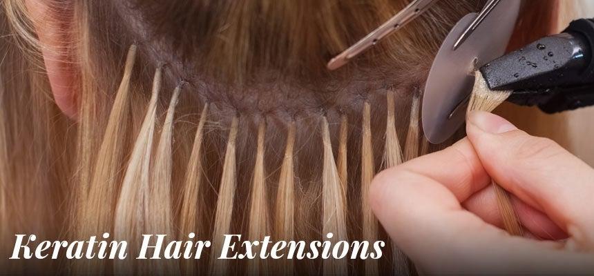 bonded keratin hair extensions
