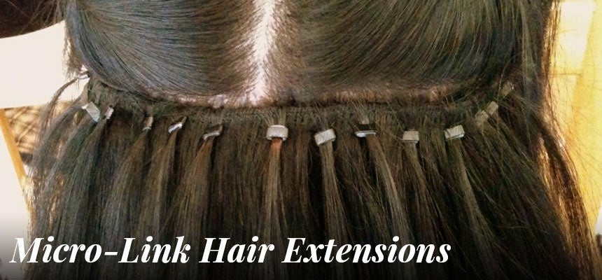 micro link/beaded hair extensions