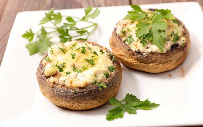 Holiday Foods that Reduce Cancer Risk Stuffed Mushrooms