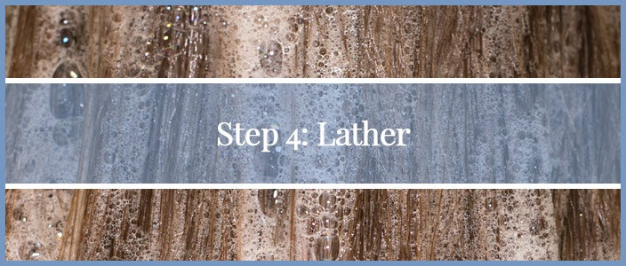 How to Wash a Synthetic Wig Step 4: Lather
