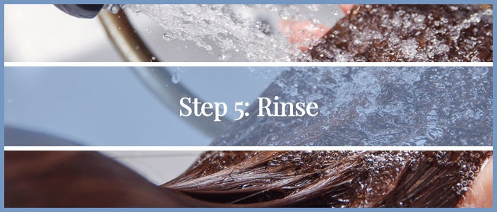 How to Wash a Synthetic Wig Step 5: Rinse