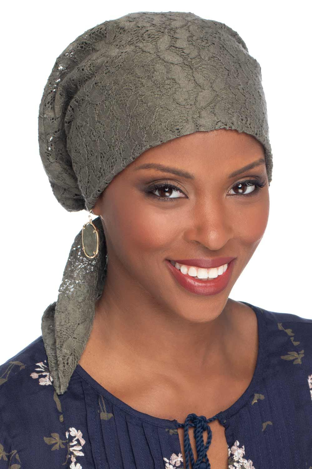 Lace Easy to Tie Scarf Cap for Cancer Patients