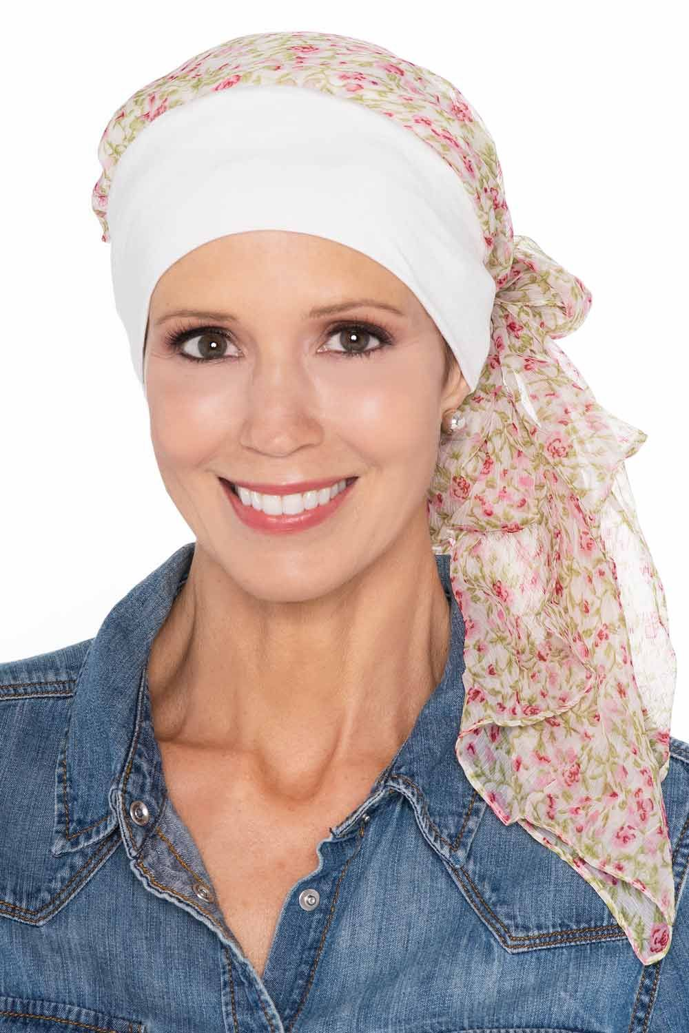 Lanie Pre-tied Scarf Cap for Cancer Patients