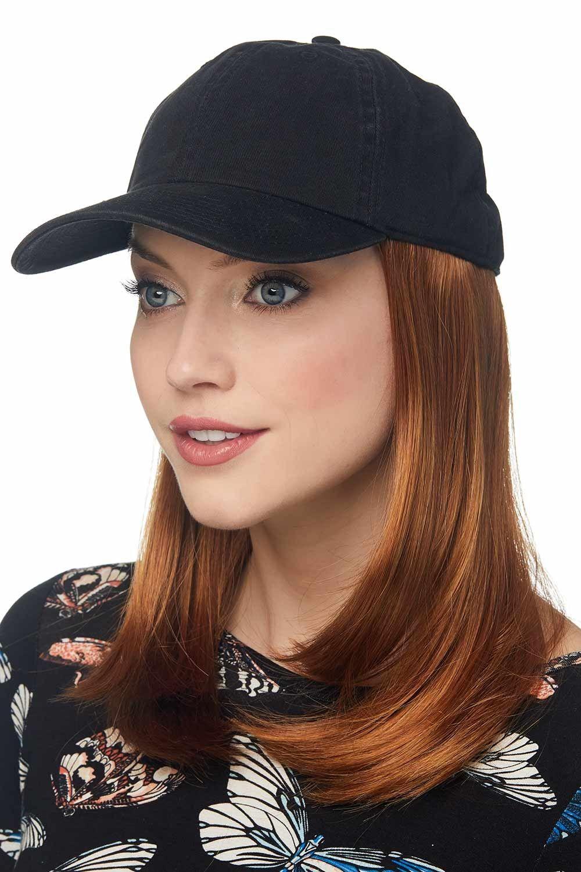 cardani long baseball hat with hair