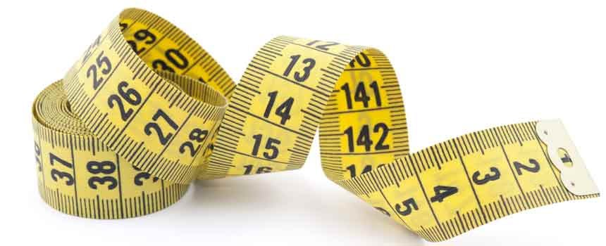 measuring tape to see how far along hair loss is