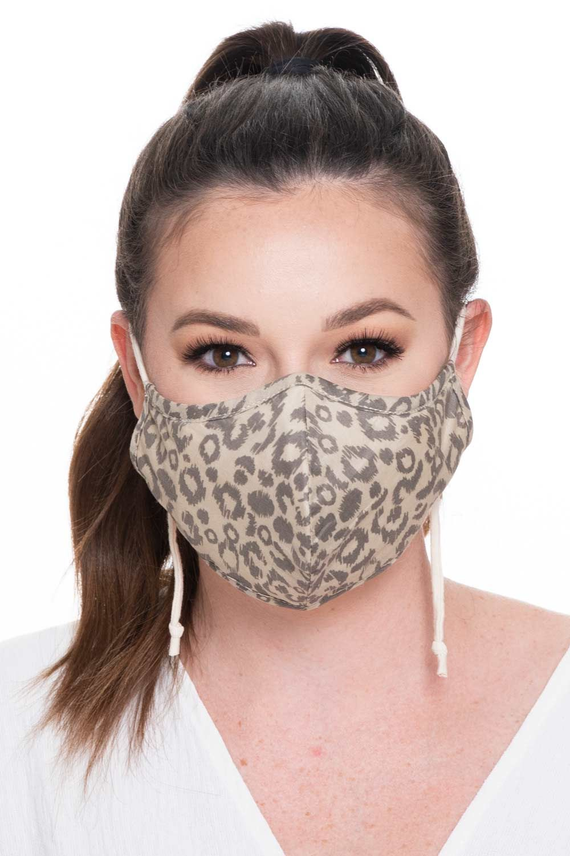 Fashion Face Mask Print - Leopard