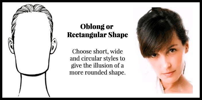 oblong face shape