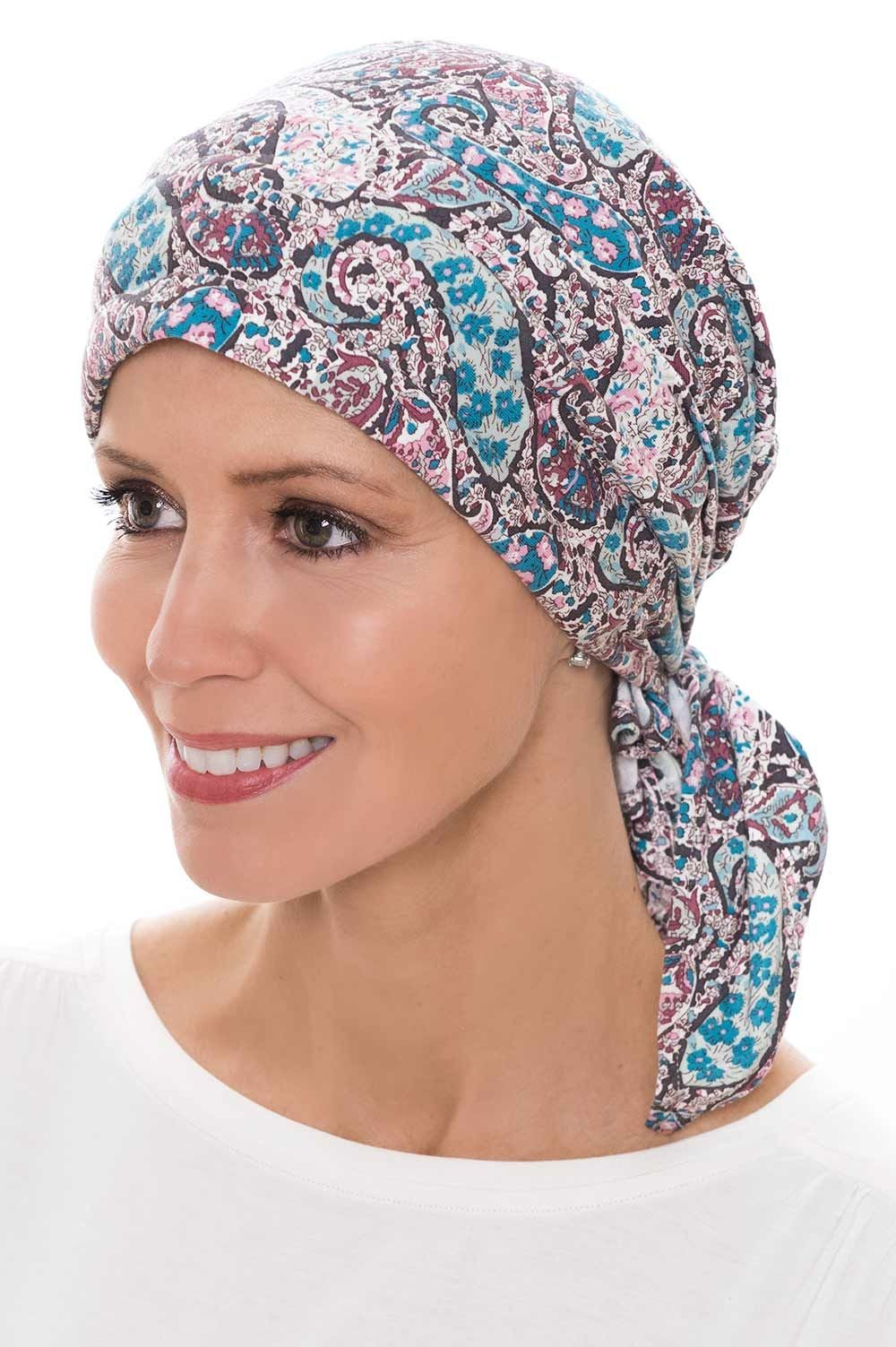 Instant Tie Head Scarf Pre-Tied Bamboo Headcovering for Cancer Patients