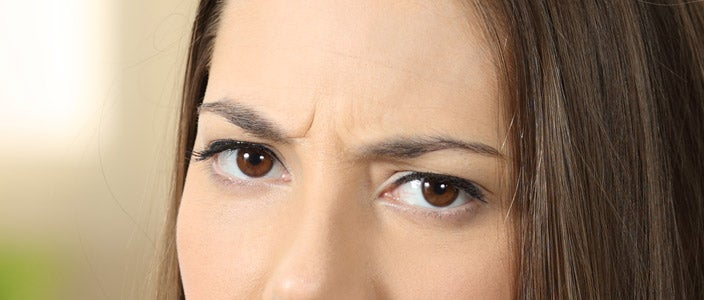 How our eyebrows look when we are upset