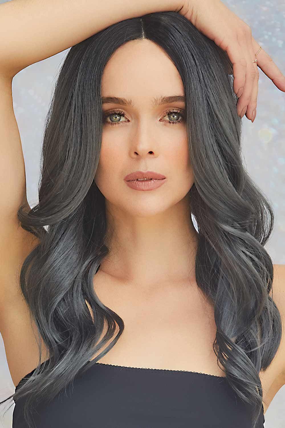 Divine Wavez by Rene of Paris Wigs - Smokey Black wig color