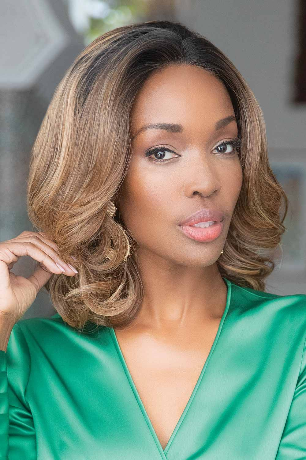 Passion by Orchid Rene of Paris Wigs - Rooted Caramel Wig Color
