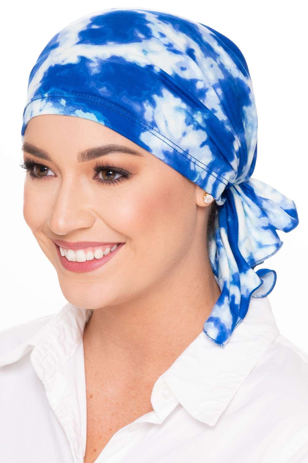Slip-On Slinky Pre-Tied Headwrap for Cancer Patients