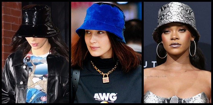 Celebrity Bucket Hats - Kendall Jenner, Bella Hadid, and Rihanna