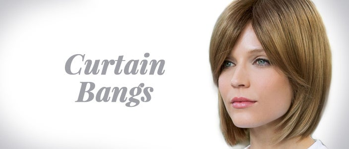 How to Style a Wig with Bangs: Curtain Bangs