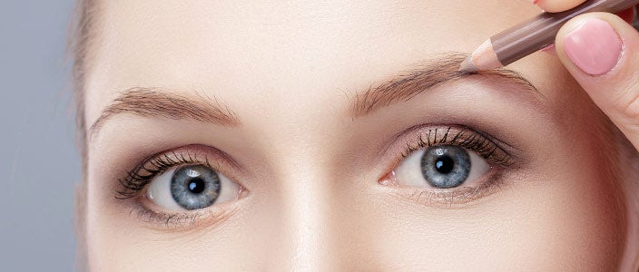 Tips for blonde brows - types of makeup