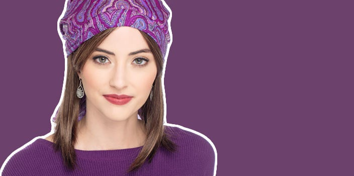 Cover hair loss from vitamin deficiencies with scarves and hats.